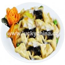 Tofu s bambusem a houbami