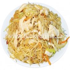 Smažené rýžové nudle s kuřetem