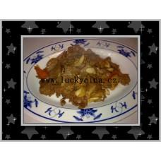 Skopové maso v chilli omáčce